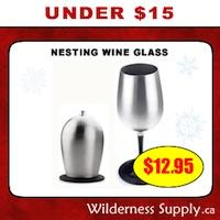 Stainless Steel Nesting Wine Glass