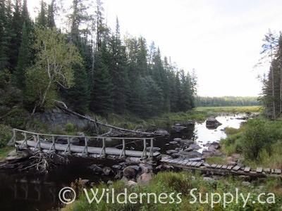 Whiteshell river footbridge