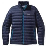 Men's active outdoor synthetic and down jackets, vests.  Goose down, synthetic insulation.  Midlayer, outerlayer.  Camping, Hiking and Travel.  The North Face, Patagonia.