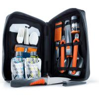 An all in one 24 piece kitchen set for back country or car camping