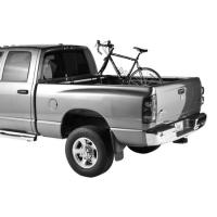 Carry 2 bikes in the bed of your pick-up truck with no bolting or drilling with this integrated locking fork mount carrier