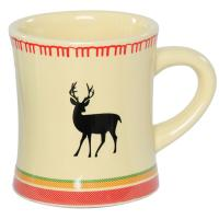 Sip your morning coffee in elegant, wildlife-inspired style with this Cream Deer Blanket Mug.