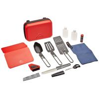 This all-in-on deluxe MSR kitchen set comes with everything you need when camping and comes in a hard carrying case.