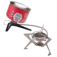 The WindPro II camp stove combines the stability and wind protection of a remote-burner design with the convenience of canister fuel.