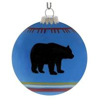 Bring outdoor style and class to your tree, mantle, or holiday decor.  Hand painted glass.