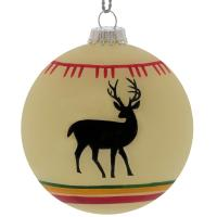 Bring outdoor style and class to your tree, mantle, or holiday decor. Made of hand painted glass.