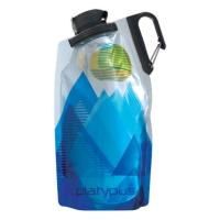 Packable and secure water bottle for the trail, gym or around town, with a convenient clip handle.