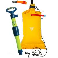 The Basic Safety Kit includes: Paddler's Bilge Pump, Dual-Chamber Paddle Float, and Safety Whistle!