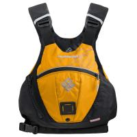 An innovative, high mobility, low profile boating vest for whitewater, SUP, and wetsailing.