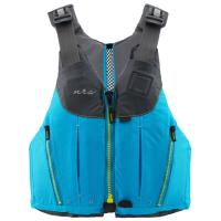 The women's specific NRS Nora PFD offers female boaters a basic life jacket with a ventilated, thin-back design for comfort.