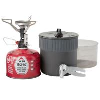 Premium lightweight cook and eat kit for 1-2 backpackers, featuring the PocketRocket Deluxe micro stove.