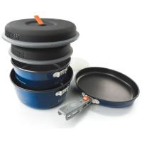 Sized for friends and families, this is a simple – and awesome – cookset for serious base camp meals.