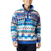 Embrace the cozy with this retro-inspired half-snap fleece, featuring bold colors and patterns.