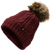 Cable-knit beanie with a pom for a classic, cold-weather look.