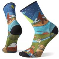 The PhD Outdoor Ultra Light Monster Camping Print Crew is our thinnest outdoor sock great for hiking, running, cycling, and everything outdoors.