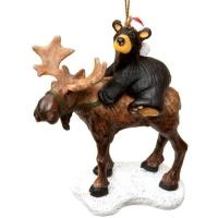 What better way to remind you of the great outdoors this holiday season than a bear riding a moose!?!