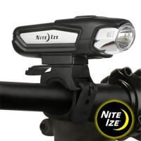 An intensely bright and versatile 750 lumen rechargeable bike light can be used as either a handlebar or helmet light