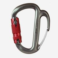 Control even heavy-load descents with this auto-locking carabiner with a braking spur to adjust rope friction.