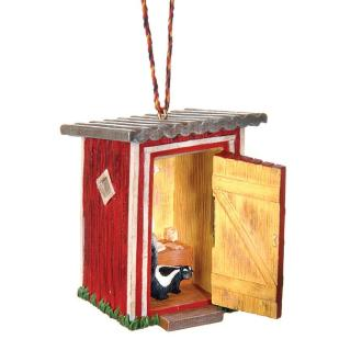 Wilderness Supply Outside Inside Outhouse Ornament