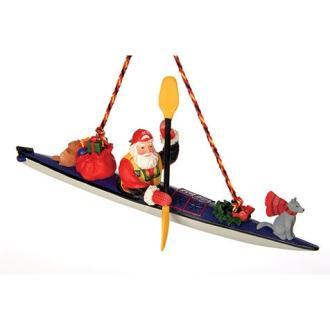 Wilderness Supply Outside Inside Sea Kayak Santa Ornament